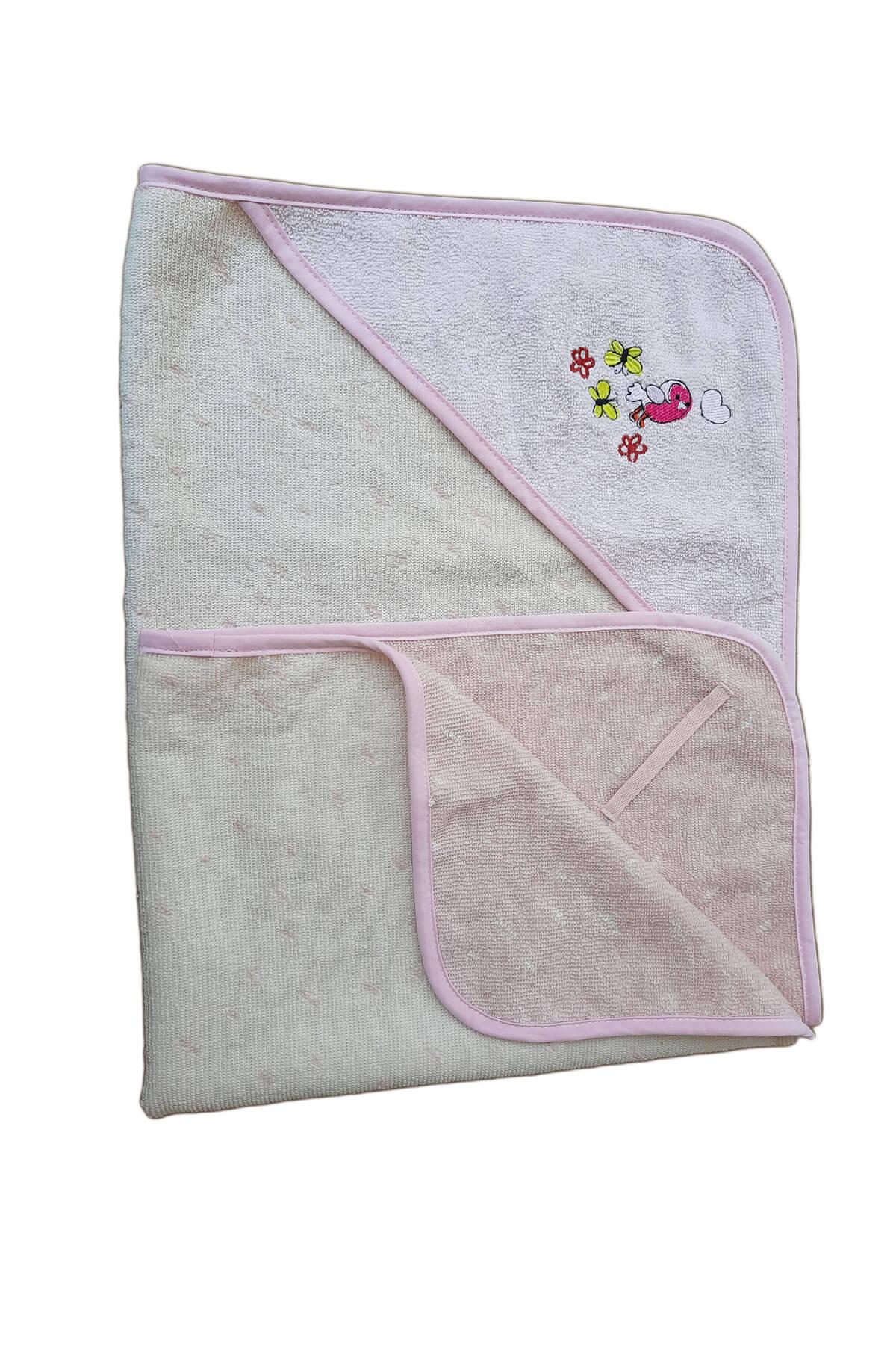 Kız Bebek Kundak Banyo Havlusu Pamuklu Bebek Havlusu 75x75