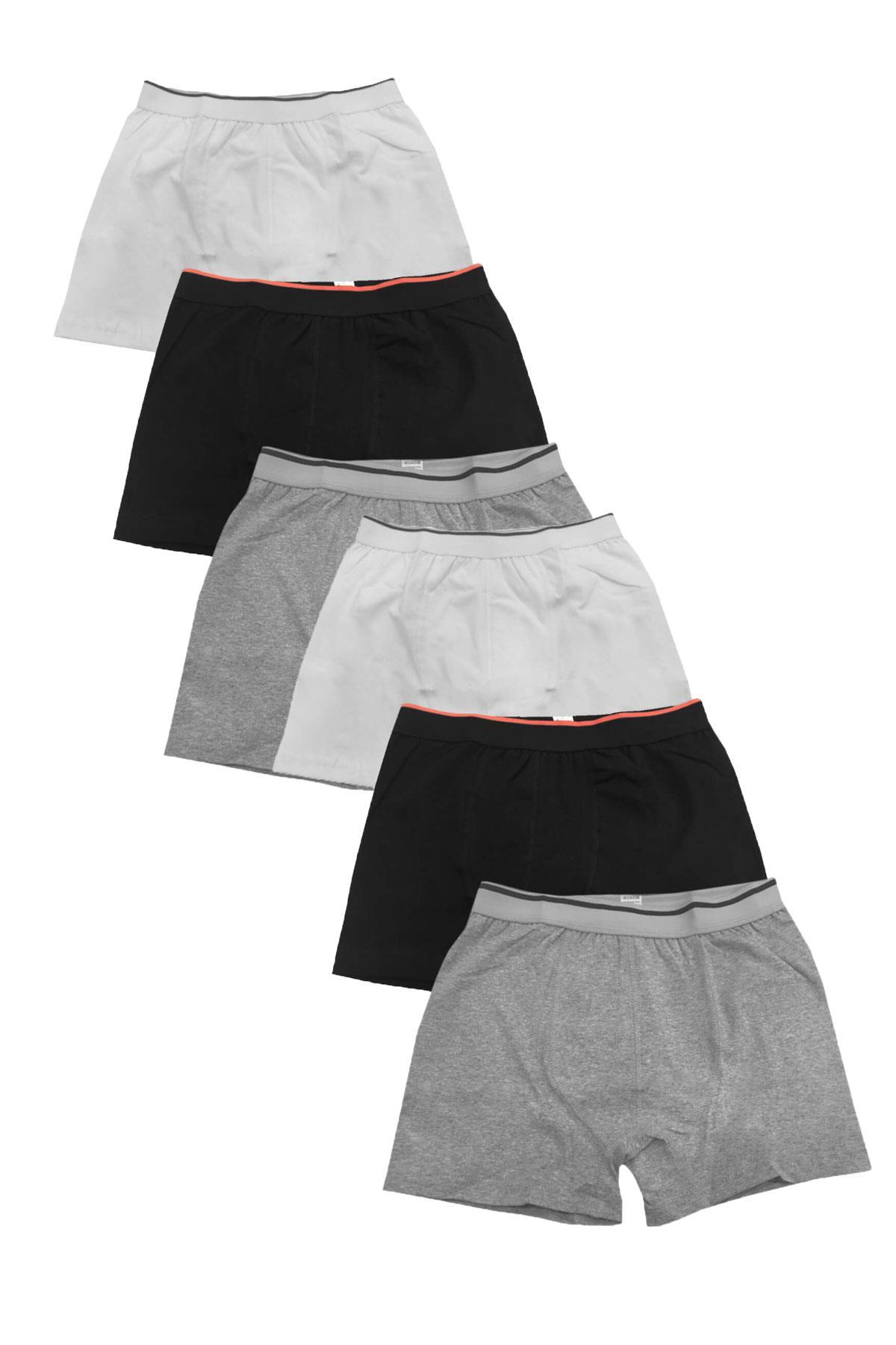 Sedef Yıldızı İç Giyim Erkek Likralı Pamuklu Boxer Don 6 lı Paket