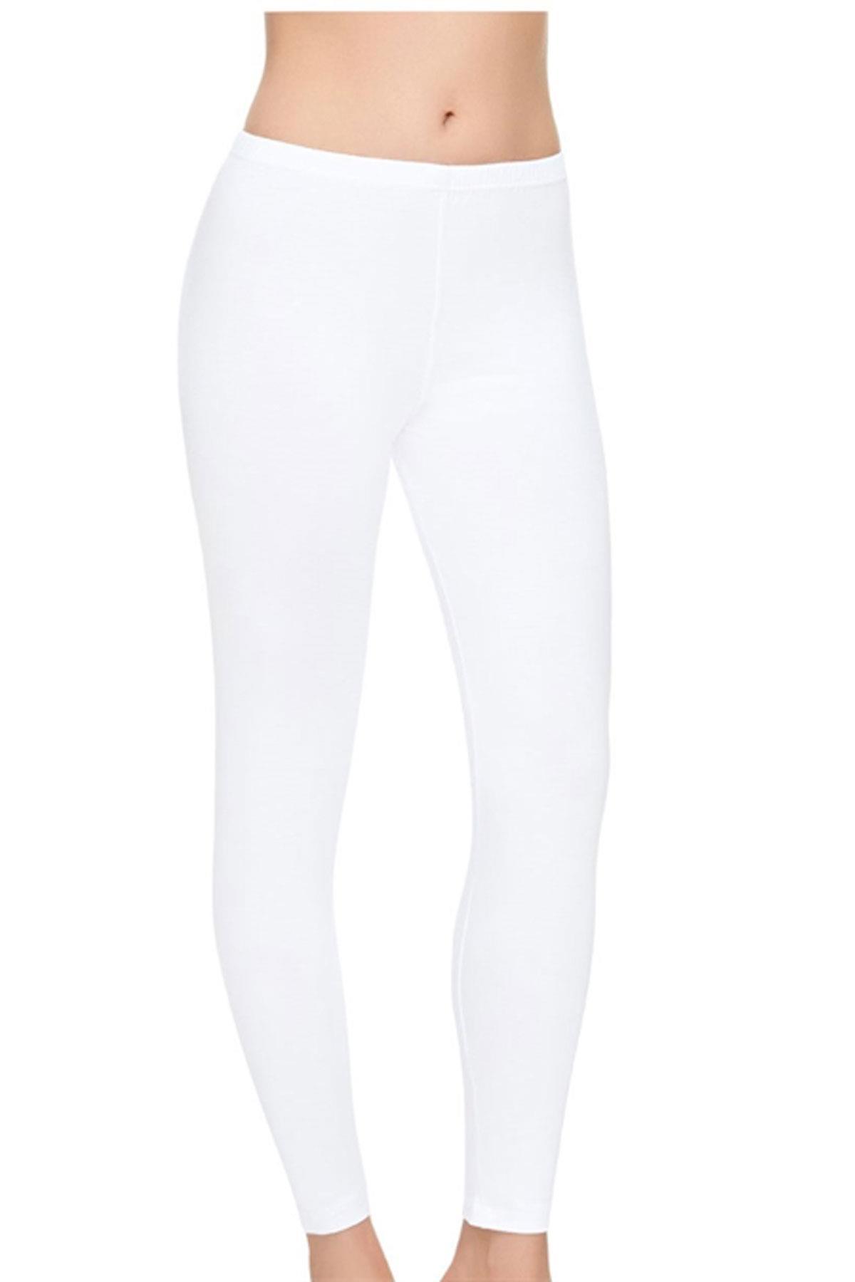 Tutku İç Giyim Elit Likralı Kadın Sporcu Uzun Tayt Pantolon