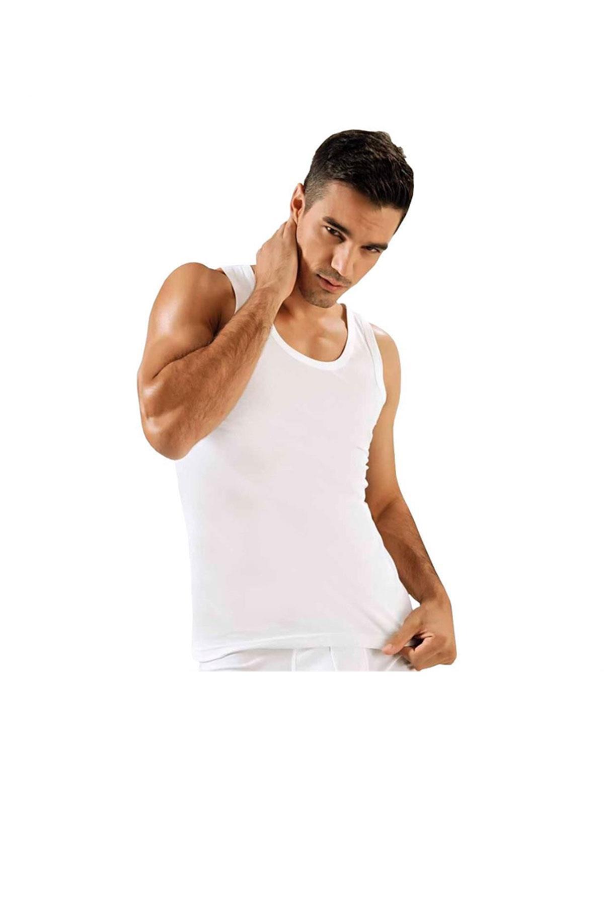 Tutku İç Giyim Erkek Pamuk Klasik Askılı Penye Atlet 6 Lı Paket
