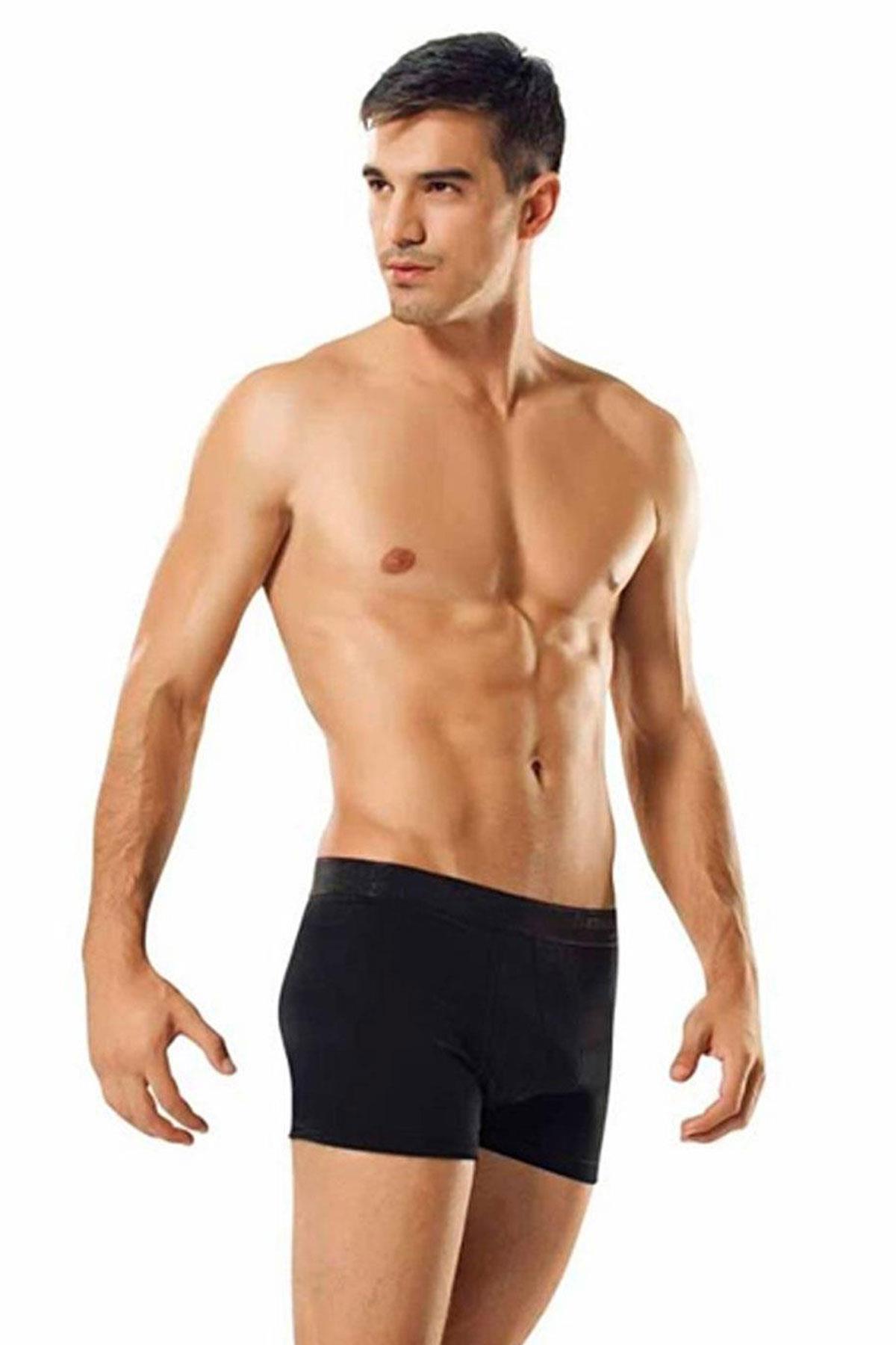 Tutku İç Giyim Pamuklu Likralı Erkek Boxer Paçalı Don 5 Li Paket